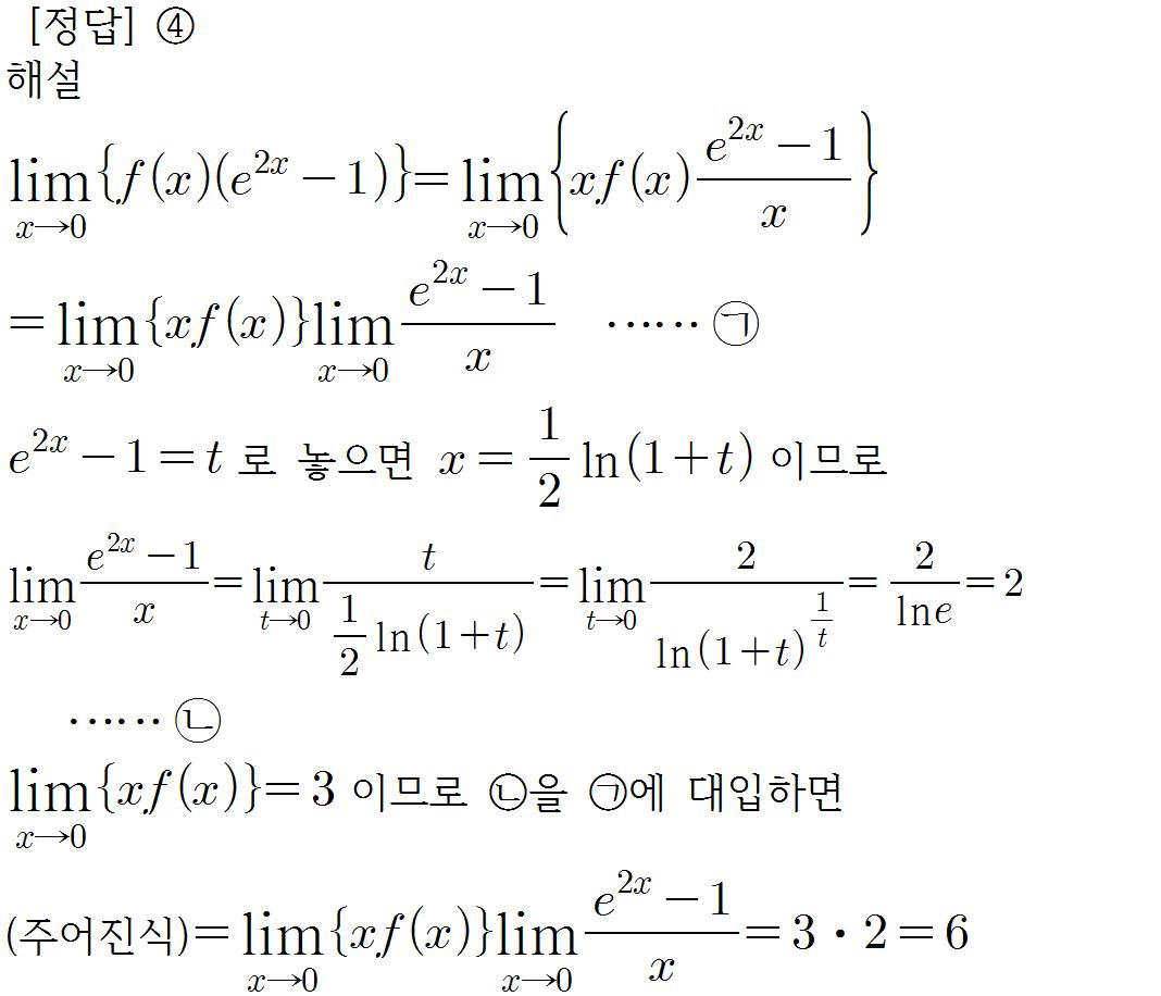지수함수의 극한 샘토링 수학(samtoring.com)
